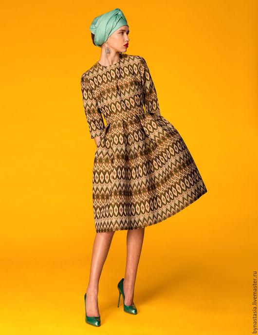 """Платья ручной работы. Ярмарка Мастеров - ручная работа. Купить Платье """"Павлиний хвост"""" ПОСЛЕДНЕЕ ПЛАТЬЕ. Handmade. Комбинированный"""