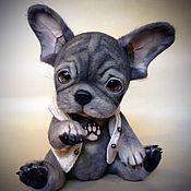 Мягкие игрушки ручной работы. Ярмарка Мастеров - ручная работа Французский бульдожик. Handmade.