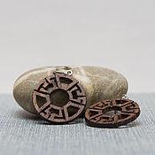 Украшения handmade. Livemaster - original item Wooden round earrings. Handmade.