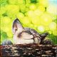 Животные ручной работы. Ярмарка Мастеров - ручная работа. Купить Картина маслом  Жизнь хороша. Handmade. Цветы, зеленый