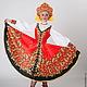русский танец, русский сарафан, сценический костюм, костюм для выступлений, хохлома, красный сарафан, танцевальный костюм.Russian dance costume