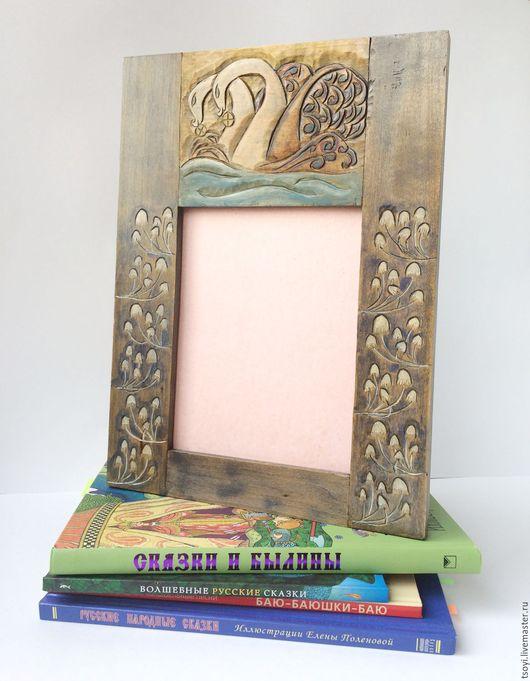 """Фоторамки ручной работы. Ярмарка Мастеров - ручная работа. Купить Скидка! Рама для фотографии или зеркала """"Лебеди"""". Handmade."""