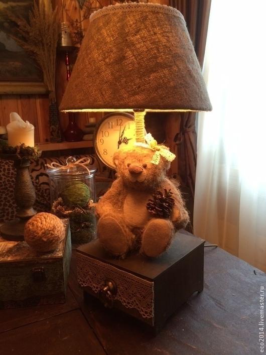 """Освещение ручной работы. Ярмарка Мастеров - ручная работа. Купить Настольная лампа """"Миледи"""". Handmade. Лампа, дизайнерская работа, eco"""