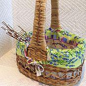 """Для дома и интерьера ручной работы. Ярмарка Мастеров - ручная работа Корзинка """"Лаванда"""" c чехлом. Handmade."""