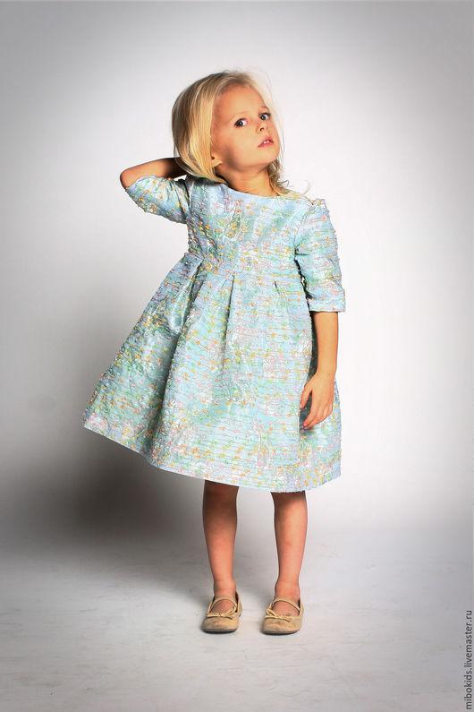 Одежда для девочек, ручной работы. Ярмарка Мастеров - ручная работа. Купить Праздничное жаккардовое платье разноцветное. Handmade. Платье для девочки