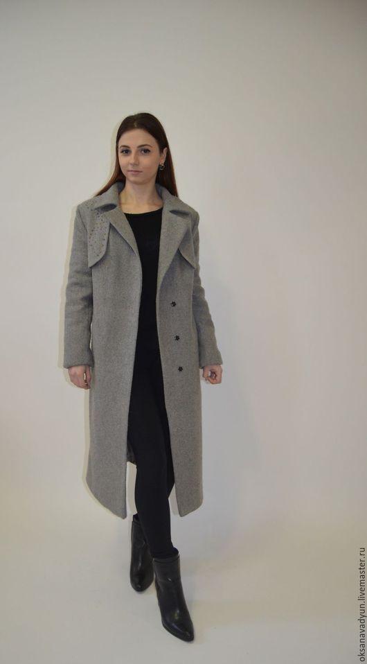 Верхняя одежда ручной работы. Ярмарка Мастеров - ручная работа. Купить Пальто  Grey wool. Handmade. Серый, пальто женское