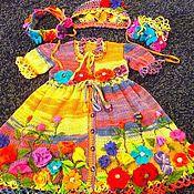 """Платья ручной работы. Ярмарка Мастеров - ручная работа Платье """"Цветы на радуге"""". Handmade."""