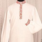 Русский стиль ручной работы. Ярмарка Мастеров - ручная работа Свадебная стилизованная рубаха из льна. Handmade.