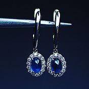 Украшения handmade. Livemaster - original item Anyas earrings with sapphires and diamonds. Handmade.