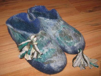 Обувь ручной работы. Ярмарка Мастеров - ручная работа. Купить Тапочки валяные