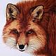 """Животные ручной работы. Ярмарка Мастеров - ручная работа. Купить акварель """"Хитрый лис""""/оформлена/. Handmade. Рыжий, картина, картина акварелью"""