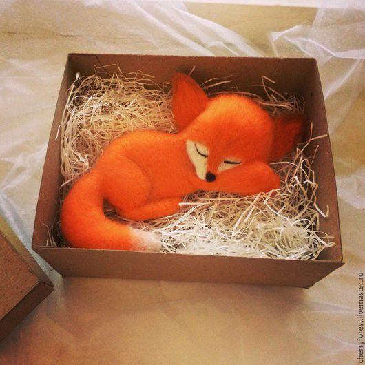 Игрушки животные, ручной работы. Ярмарка Мастеров - ручная работа. Купить Лисичка (валяная игрушка). Handmade. Оранжевый, лис, лиса