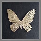 Картины и панно handmade. Livemaster - original item Butterfly gold on black background. Handmade.
