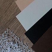 Материалы для творчества handmade. Livemaster - original item !Designer paper, cardboard, matte, natural shades. Handmade.