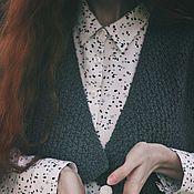 """Одежда ручной работы. Ярмарка Мастеров - ручная работа Жилетка женская """"Серенькая. Фактурная"""", связанная вручную. Handmade."""