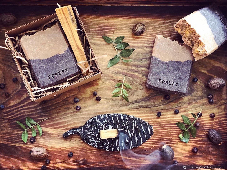 Forest. Натуральное мыло с пудрой сандала и красного сандала, Мыло, Омск,  Фото №1