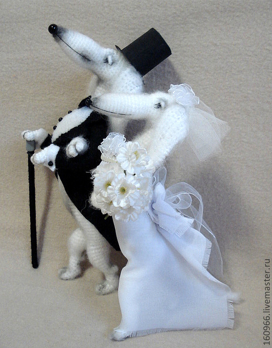 Игрушки животные, ручной работы. Ярмарка Мастеров - ручная работа. Купить Барон фон Такс с супругой баронессой Соней. Handmade.