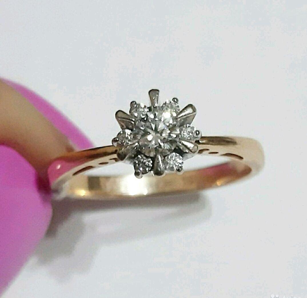 Золотое кольцо с бриллиантами, Кольца, Москва,  Фото №1