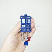 Украшения handmade. Livemaster - original item Polymer clay TARDIS brooch. Doctor who.. Handmade.
