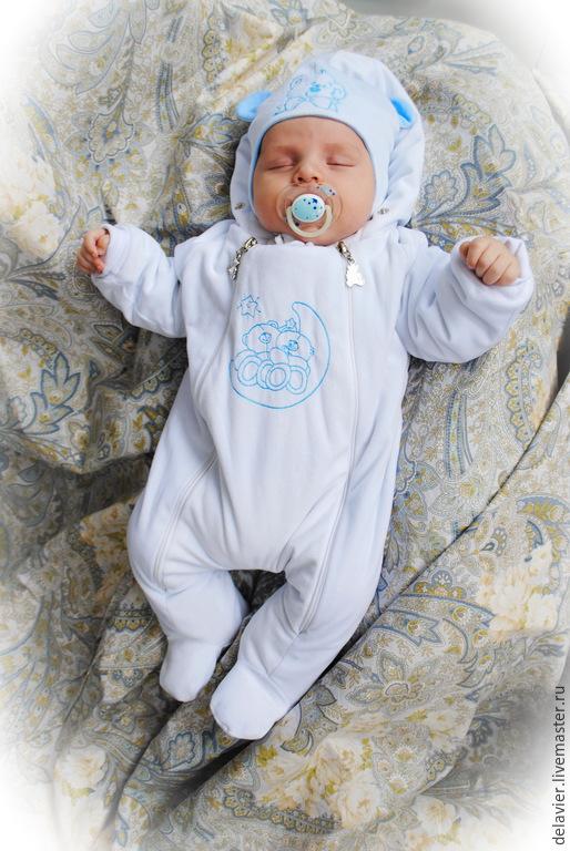 """Одежда ручной работы. Ярмарка Мастеров - ручная работа. Купить Утепленный комбинезон для новорожденных """"Мимишка"""". Handmade. Белый, для малыша"""