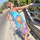 Dresses handmade. crochet dress 'eden' batik. Natalimarket. Online shopping on My Livemaster. Silk, summer dress