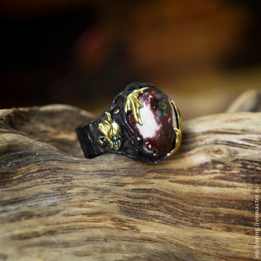 """Кольца ручной работы. Ярмарка Мастеров - ручная работа. Купить Кольцо """"Бхарати"""". Handmade. Кольцо, кошка, бохо, золотой, серебро"""