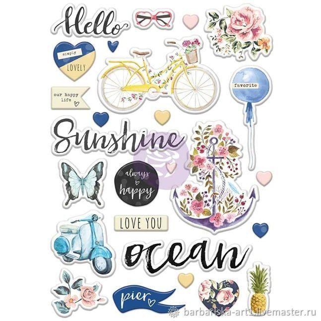 Объемные наклейки St. Tropez Puffy Stickers от Prima Marketing, Материалы, Смоленск, Фото №1