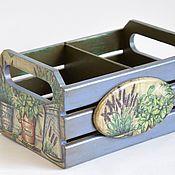 """Ящики ручной работы. Ярмарка Мастеров - ручная работа Ящик для специй  """"Травы Прованса"""". Handmade."""