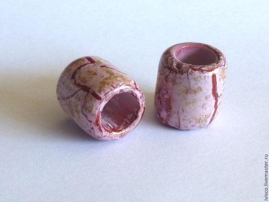 Для украшений ручной работы. Ярмарка Мастеров - ручная работа. Купить Керамические бусины для браслетов Regaliz широкие - четыре цвета. Handmade.