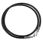 Украшения handmade. Livemaster - original item Leather string with silver lock!. Handmade.
