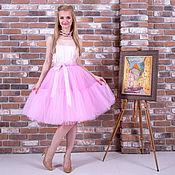 Одежда ручной работы. Ярмарка Мастеров - ручная работа Юбка-пачка из фатина 4 слоя нежно-розовая со швом. Handmade.