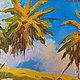 """Пейзаж ручной работы. Заказать """"Тропический рай"""" картина маслом на холсте. ЯРКИЕ КАРТИНЫ Наталии Ширяевой. Ярмарка Мастеров. Картина"""