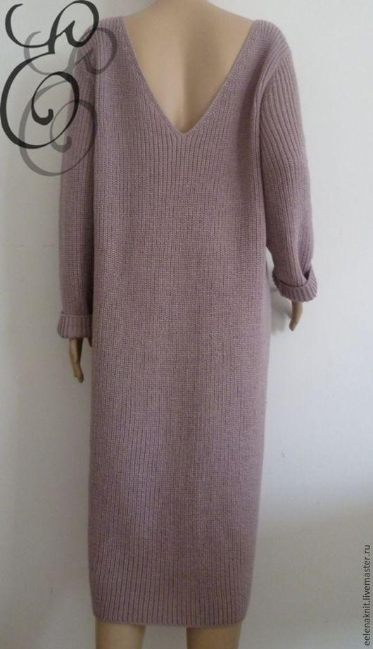 """Платья ручной работы. Ярмарка Мастеров - ручная работа. Купить Платье- свитер """" Розы в пыли"""". Handmade. Бледно-розовый"""
