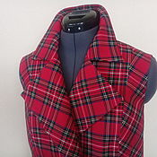 Одежда handmade. Livemaster - original item Vest women`s XS, S, M, L, XL/ classic tartan. Handmade.