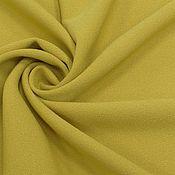 Ткани ручной работы. Ярмарка Мастеров - ручная работа ткань вискоза креп стрейч горчица. Handmade.