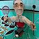 Персональные подарки ручной работы. Заказать Портретная кукла на заказ по фото  -Танцор-теннисист. Jekky. Ярмарка Мастеров. Подарок другу