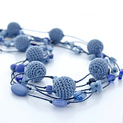 Украшения ручной работы. Ярмарка Мастеров - ручная работа Колье Морские сокровища синее голубое. Handmade.
