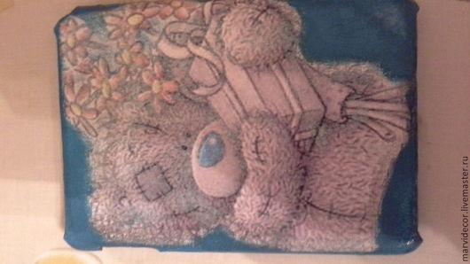 """Компьютерные ручной работы. Ярмарка Мастеров - ручная работа. Купить чехол для iPad mini """"Мишка Теди"""". Handmade. Бирюзовый"""