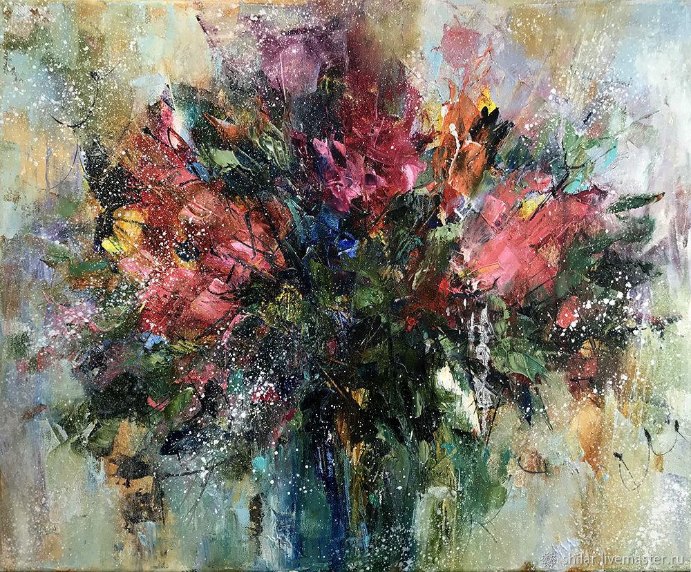Flower arrangement 2, painting interior, Pictures, Asha,  Фото №1