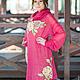 """Платья ручной работы. Заказать Авторсткое платье """"Eluise"""". Stela Style. Ярмарка Мастеров. Вязаное платье, платье с принтом, розы"""