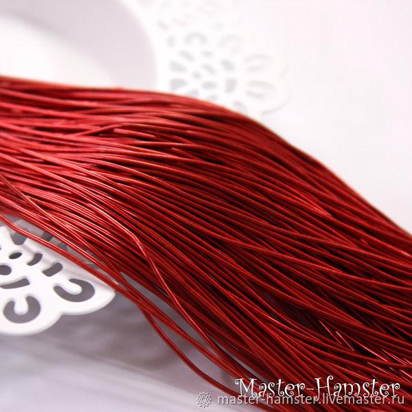 Канитель мягкая красная 1 мм гладкая Индия