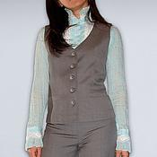 Одежда ручной работы. Ярмарка Мастеров - ручная работа Костюм - тройка: жилет, юбка, брюки. Handmade.