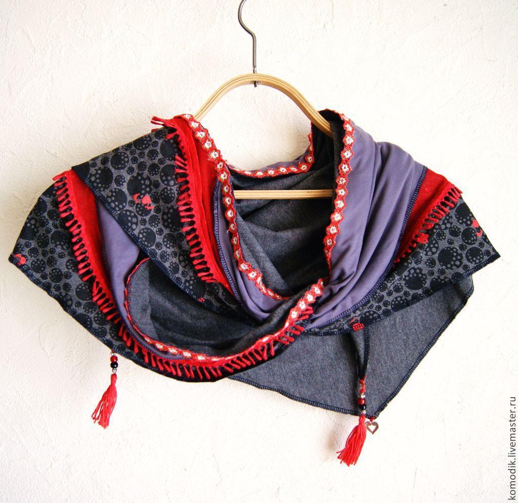 бактус `Красно-серый` из ткани