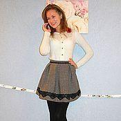 """Одежда ручной работы. Ярмарка Мастеров - ручная работа Юбочка """"Brigitte"""" из шерсти. Handmade."""