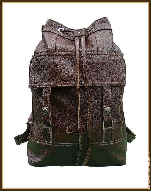 Рюкзаки ручной работы. Ярмарка Мастеров - ручная работа. Купить Рюкзак Торба цвет Коричневый. Handmade. Торба-рюкзак