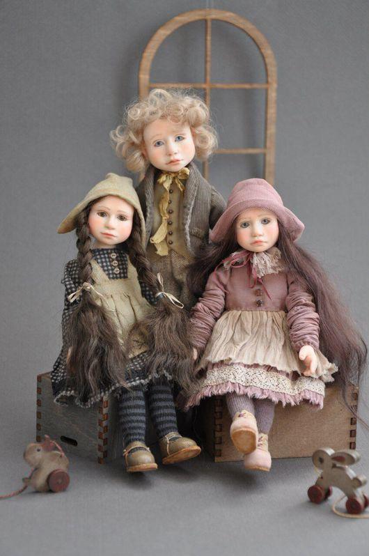 """Коллекционные куклы ручной работы. Ярмарка Мастеров - ручная работа. Купить Мини-проект """"Немного времени назад..."""". Handmade."""