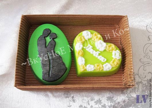 """Мыло ручной работы. Ярмарка Мастеров - ручная работа. Купить Подарочный набор мыла """"Яблочная любовь"""" mini. Handmade. Сердце"""