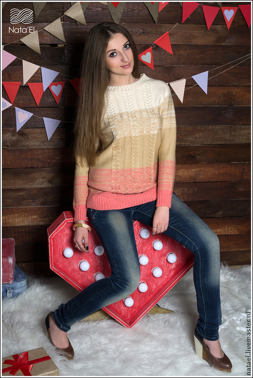 """Кофты и свитера ручной работы. Ярмарка Мастеров - ручная работа. Купить Свитер """"Desire """". Handmade. Разноцветный, вязаный свитер"""
