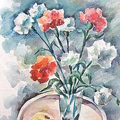 Картины и панно ручной работы. Ярмарка Мастеров - ручная работа Картина Гвоздики. Handmade.