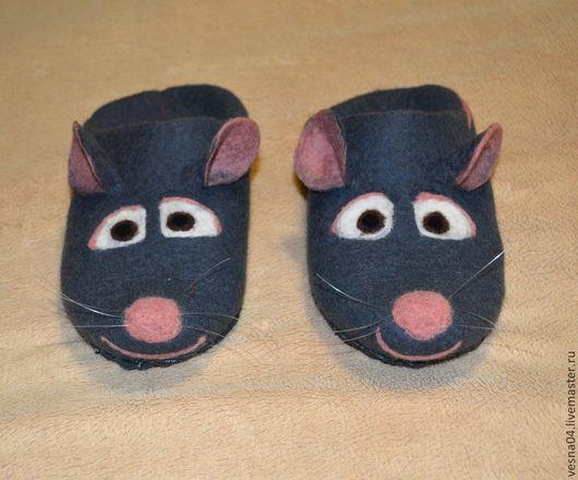 """Обувь ручной работы. Ярмарка Мастеров - ручная работа. Купить Валяные тапочки крысы """" Ремми """". Handmade."""